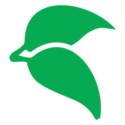 Icono de dos hojas verdes