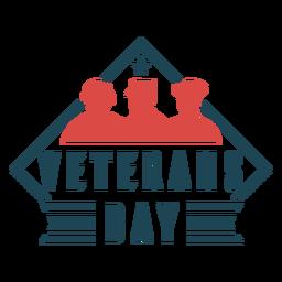 Día de los veteranos de estados unidos plano