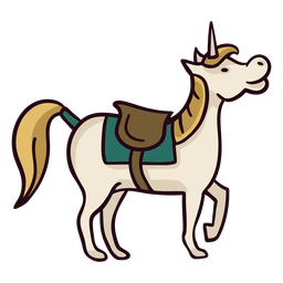 Unicorn horse colorful icon stroke