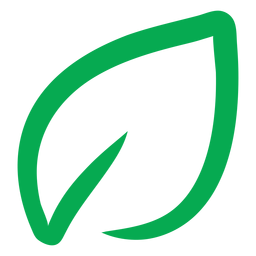 Icono de hoja verde vegana