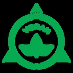 Insignia de hojas verdes veganas