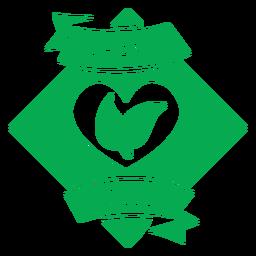 Insignia verde de poder vegano