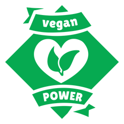 Vegan power green badge