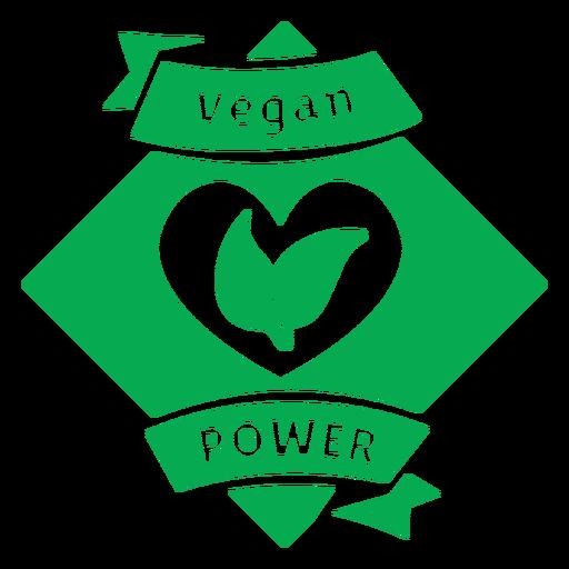 Vegan power green badge