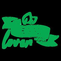 Insignia de cinta amante de vegetales