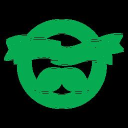 Insignia verde en polvo vegetal
