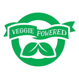 Veggie powder green badge