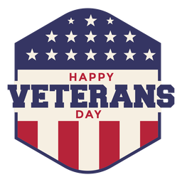 Bandeira americana com emblema do dia dos veteranos