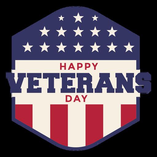 Insignia del día de los veteranos bandera americana