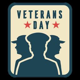 Día de los veteranos plana