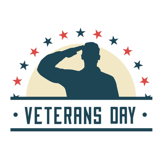 Crachá plano do dia dos veteranos
