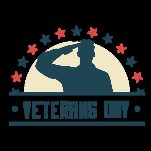 Veterans day flat badge