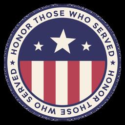 Insignia redonda del día de los veteranos