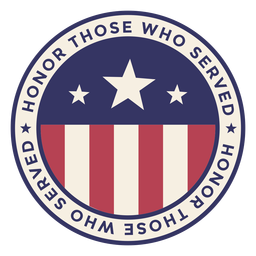 Veterans day round badge