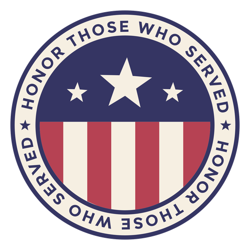 Veterans day round badge Transparent PNG