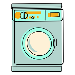 Wash machine colorful icon
