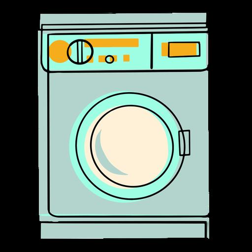 Wash machine colorful icon