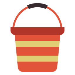 Water bucket colorful icon