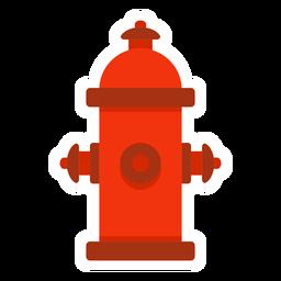Hidrante de agua colorido plano