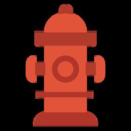 Icono colorido de extinción de incendios de hidrantes de agua