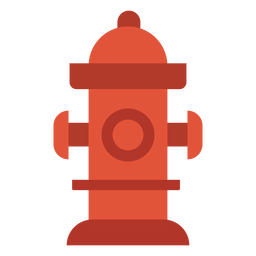 Water hydrant firefighting colorful icon