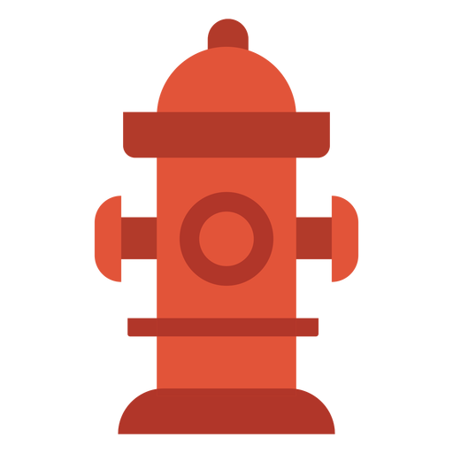 Water hydrant firefighting colorful icon Transparent PNG
