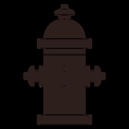 Hidrante de agua silueta plana