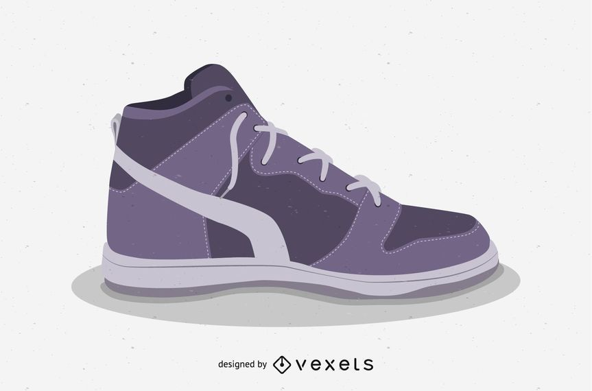 Basketball shoes vector