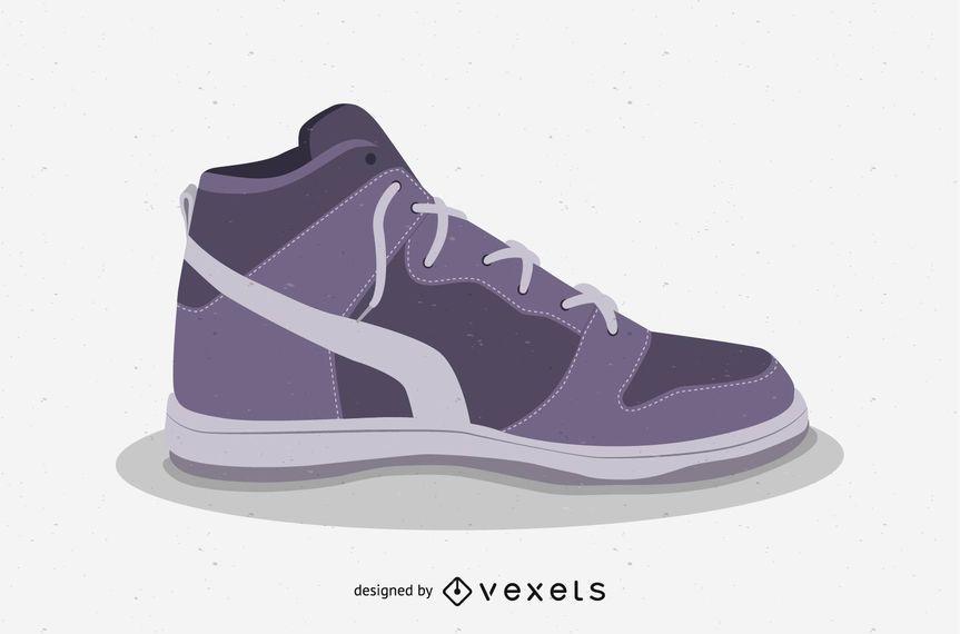 Vetor de sapatos de basquete