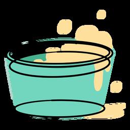Water soap bucket bubbles icon