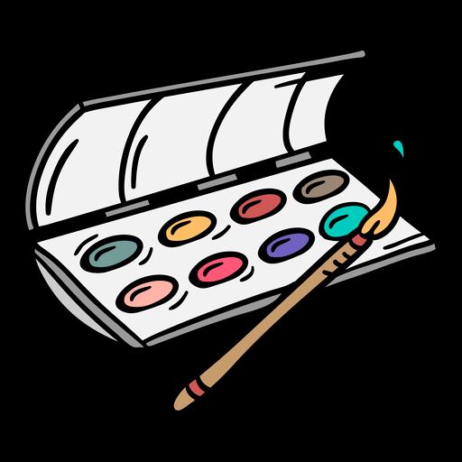 Pincel de acuarelas ilustración colorida