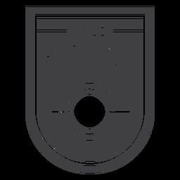 Distintivo de clube de caça selvagem