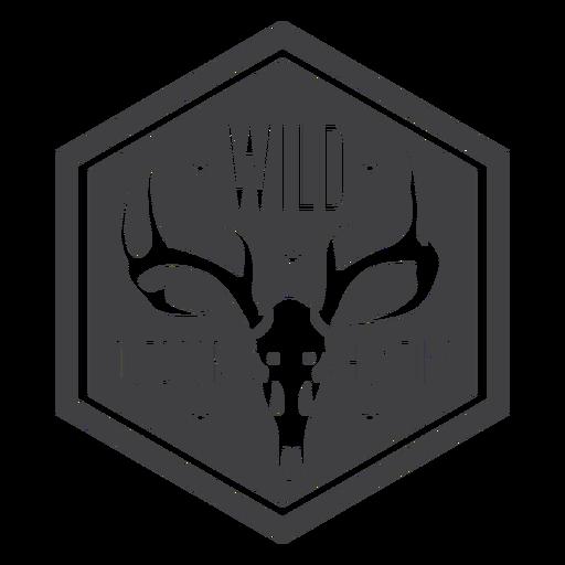 Insignia de caza salvaje al aire libre
