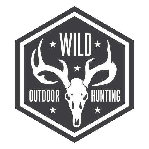 Wild outdoor hunting badge
