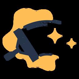 Limpiador de ventanas limpio icono de estrellas