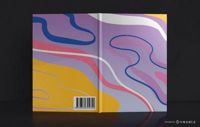 Design de capa de livro de estilo abstrato