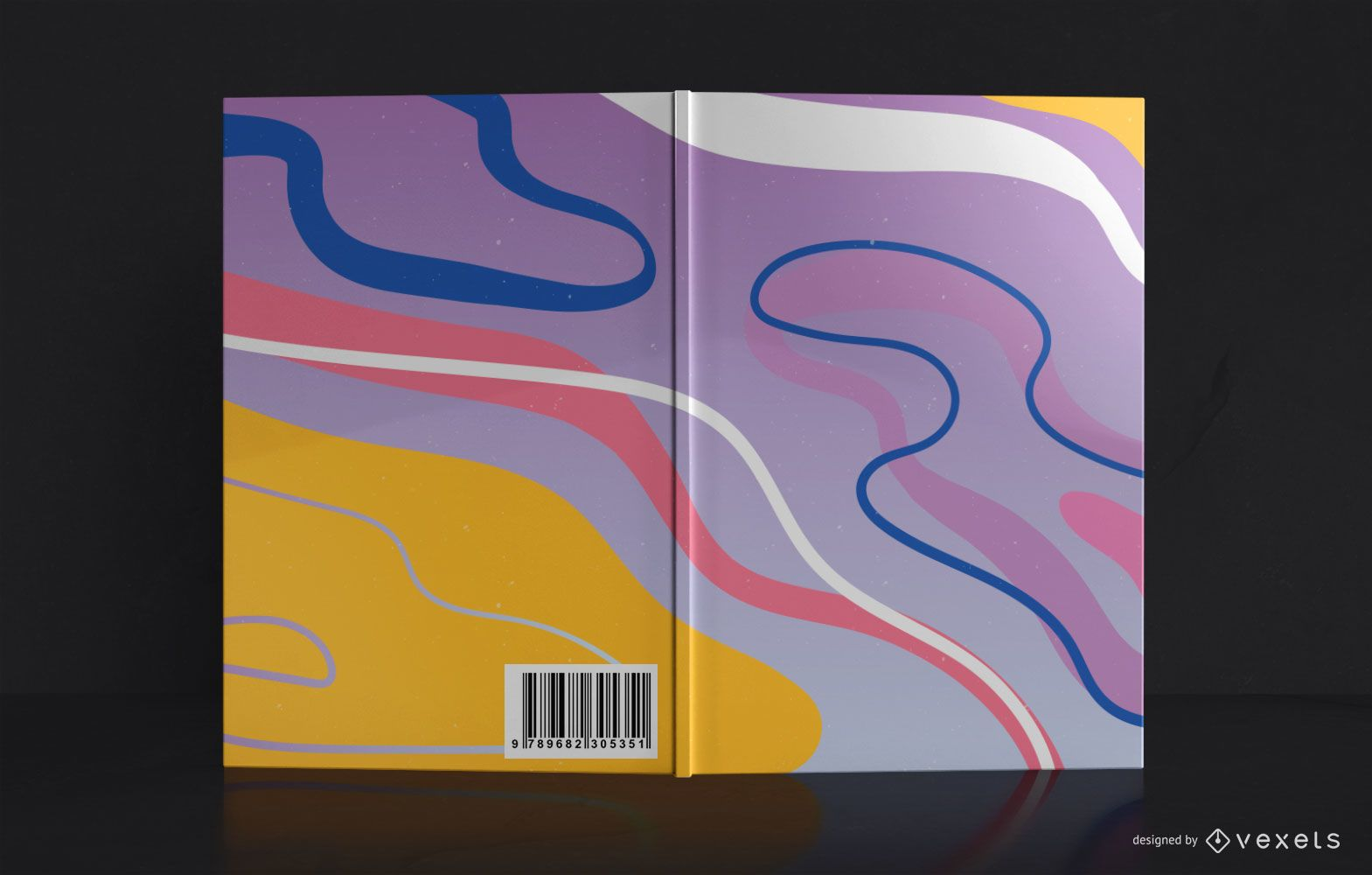 Abstract Style Book Cover Design