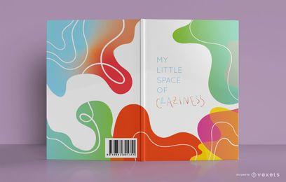 Diseño de portada de libro de dibujo abstracto