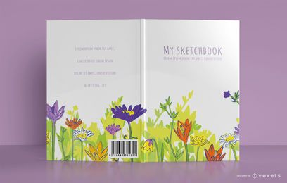 Floral Sketchbook Cover design