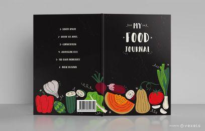 Meu design de capa de livro de diário de comida
