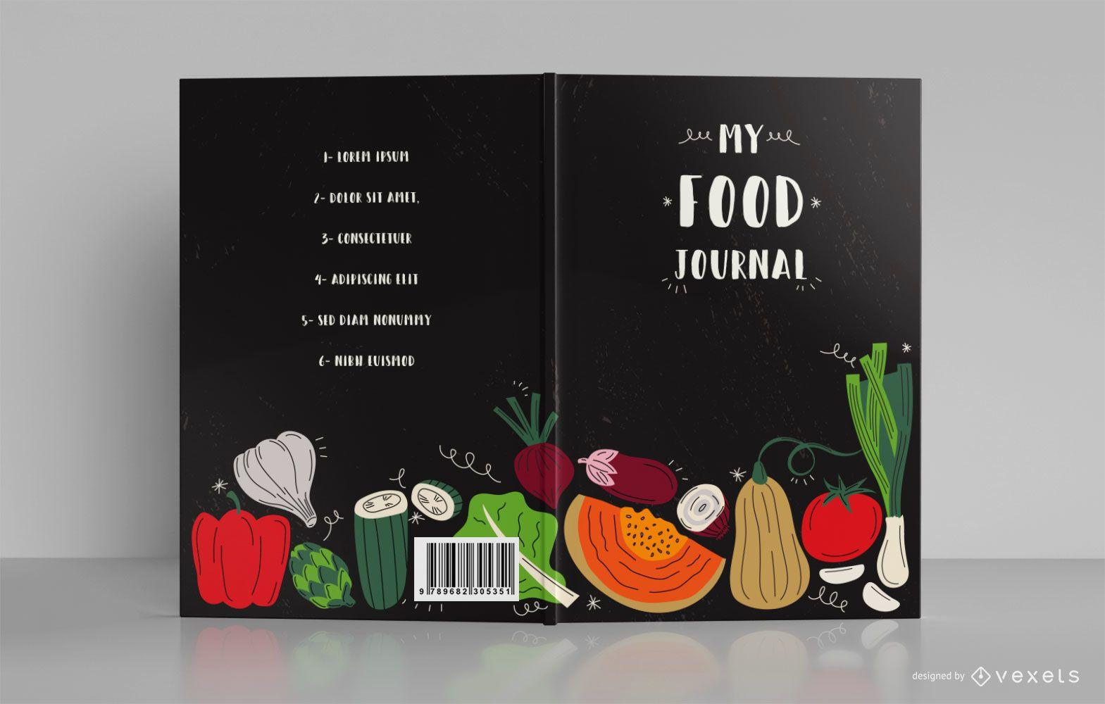 Diseño de portada de libro My Food Journal