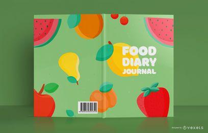 Design de capa de diário de comida