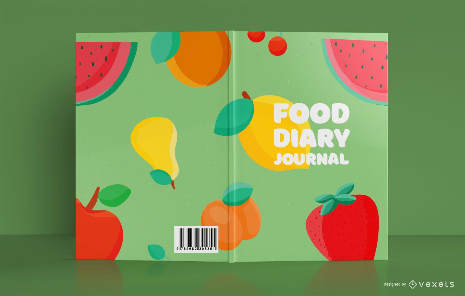 Diseño de portada de diario de alimentos