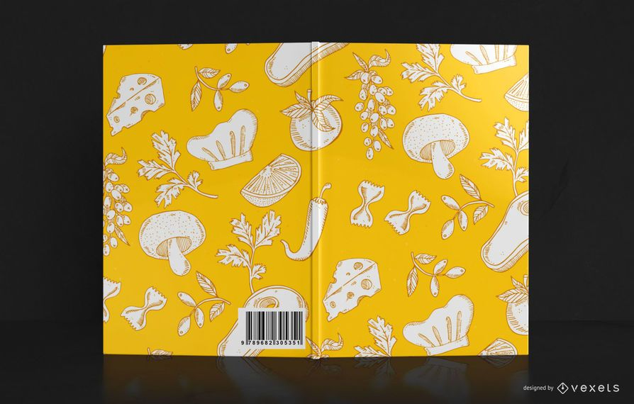 Food Pattern Book Cover Design