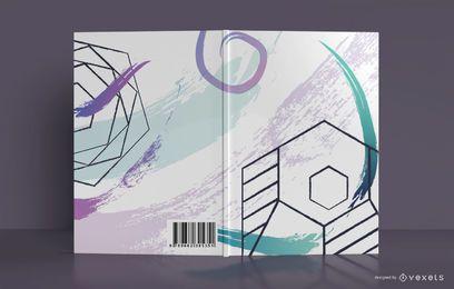 Design de capa de livro abstrato geométrico