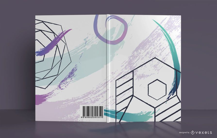 Geometric Abstract Book Cover Design