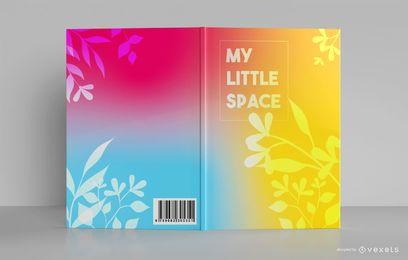 Design de capa de livro criativo em gradiente