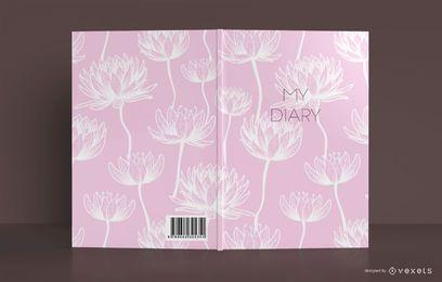 Design de capa de livro de diário de lótus