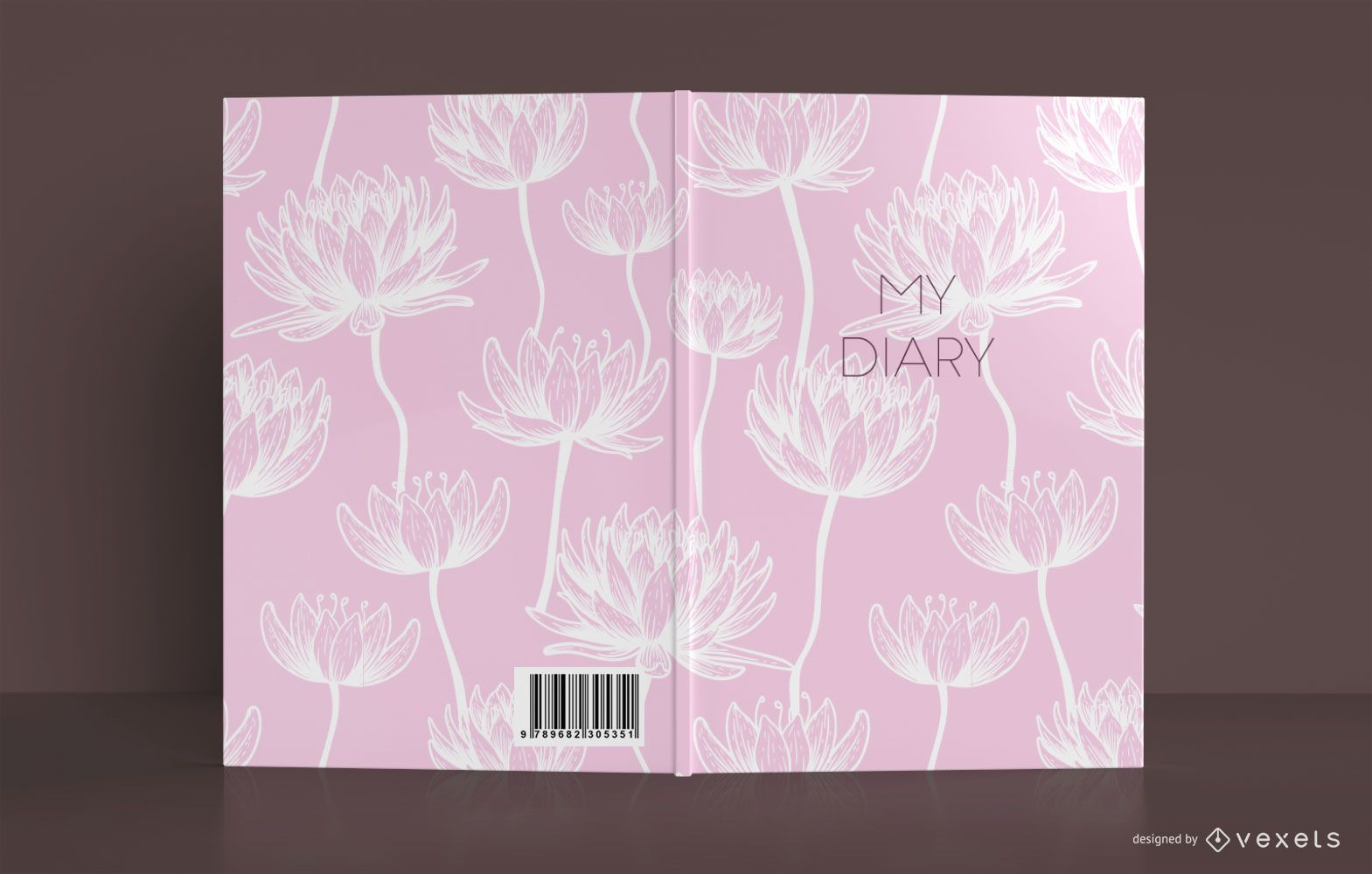 Dise?o de portada de libro Lotus Diary