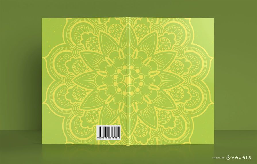 Yellow Mandala Book Cover Design